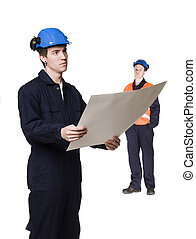 Men in working clothes