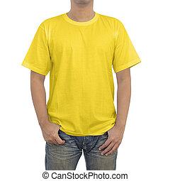 Men in yellow T-shirt