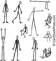 Men long skinny silhouettes
