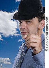 men on hat macro