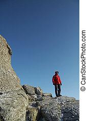 Men on the rock
