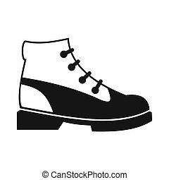 Men oxfords icon, simple style
