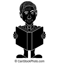 Men read a big book