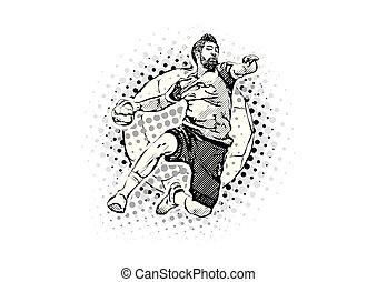 men´s handball vector illustration