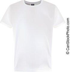 Men s White Short Sleeve T-Shirt Design Templates Isolated On A White Background. Vector Illustration