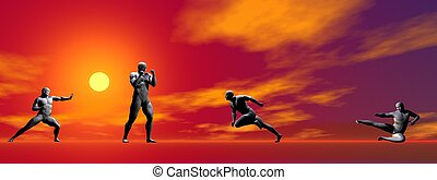 men self defence and sun