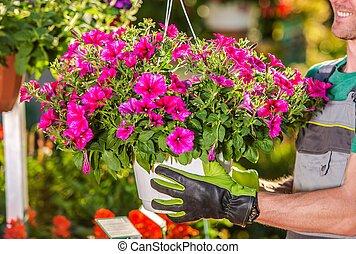 Men Selling Flowers