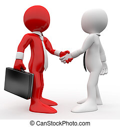 Men shaking hands as a sign of friendship and agreement