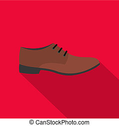 Men shoe icon flat