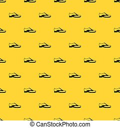 Men shoe with lace pattern vector