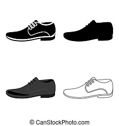 Men Shoes icon of vector illustration for web and mobile