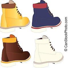 men shoes illustration isolated set