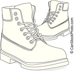 men shoes illustration isolated - shoes; isolated; men;...