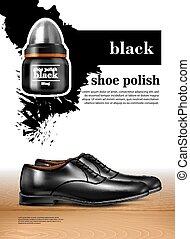 Men Shoes Realistic Set - Men shoes realistic set witn shoe...