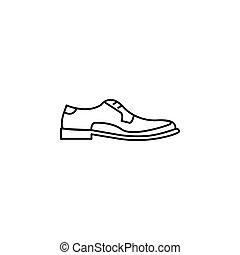 Men Shoes vector iocn - Men Shoes outline icon. Men shoes...