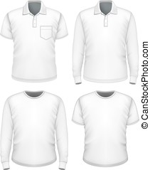 Men short and long sleeve clothes.