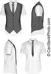 Men short sleeve vector illustration