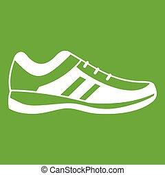 Men sneakers icon green