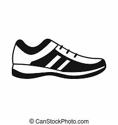 Men sneakers icon, simple style