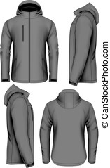 Men softshell jacket vector illustration