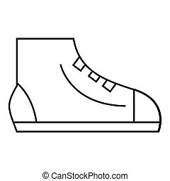 Men sport sneakers icon, outline style