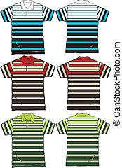 men stripe fashion polo clip art