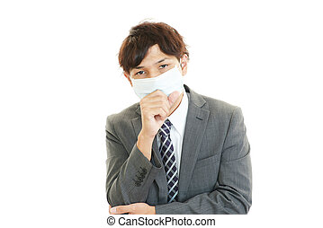 Men suffering from cold