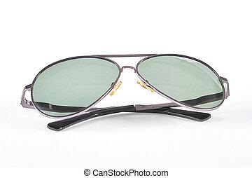 Men sunglasses isolated on white background.