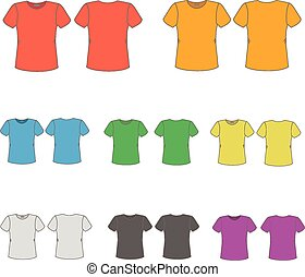 men., t-shirts, set, mascherine, colorato