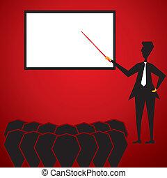 men teaching student stock vector