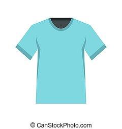 Men tennis t-shirt icon, flat style