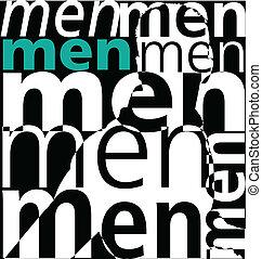 men., vector, illustratie