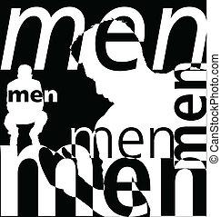 men., vetorial, ilustração