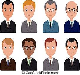 men., vettore, gruppo, affari illustrazione