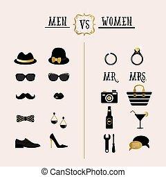 Men Vs Women accessories set