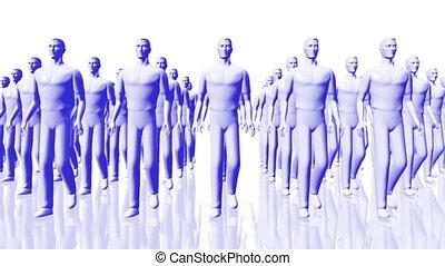 Men Walking 05 team blue