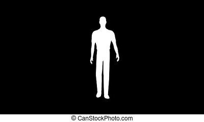Men Walking Silhouette 01 leader