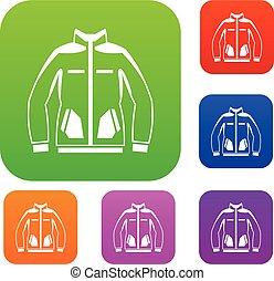 Men winter jacket set collection