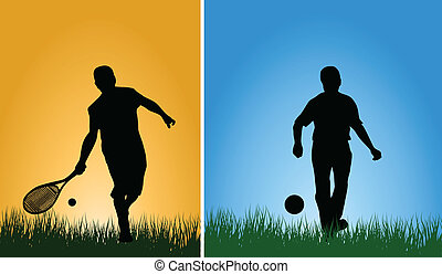 Men with ball