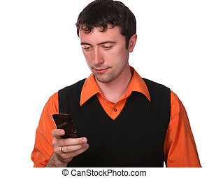men with cell phone
