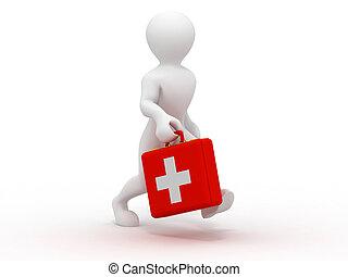 Men with medical case