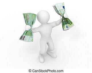 Men with money. 3d