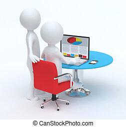 Men working on computer teamwork