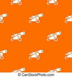 Menacing cannon pattern orange