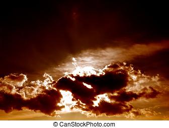 Menacing sky