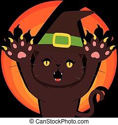 Menacing Witch Cat