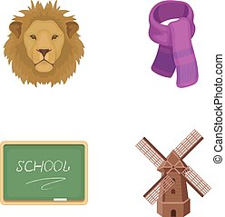 menagerie, education and other web icon in cartoon style.clothing, agriculture icons in set collection.