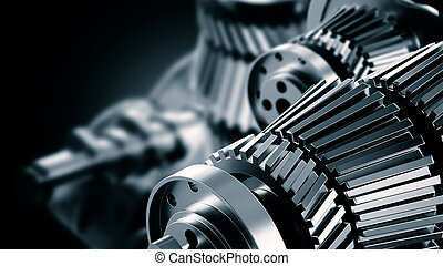 menchanical, o, máquina, ingeniería, plano de fondo
