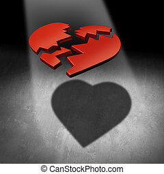 Mend A Heart - Mend a heart love concept and couple...