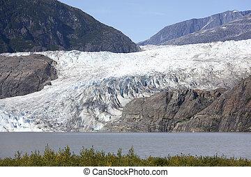 Mendenhall Glacier Close Up - The close view of Mendenhall...